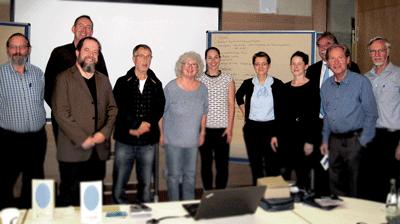 Das Bild zeigt Teilnehmer des Nutzerworkshops am Institut für Arbeitswissenschaft der RWTH Aachen University.